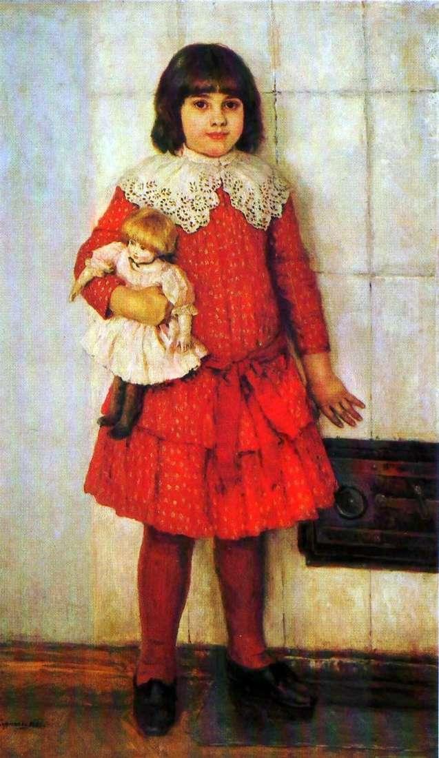Portret córki Olyi w dzieciństwie   Wasilij Surikow