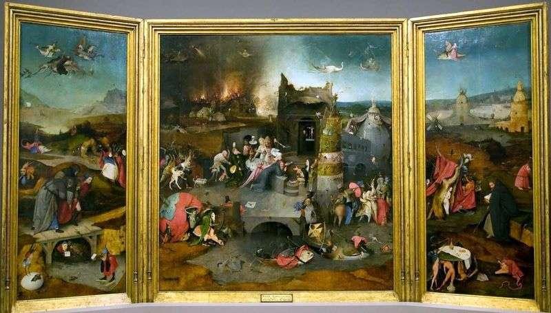 Kuszenie św. Antoniego   Hieronima Boscha