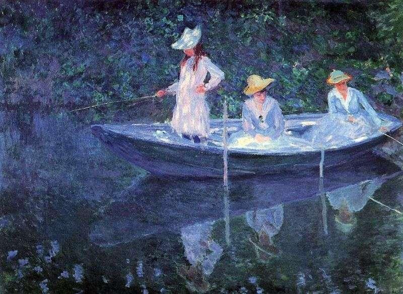 Dziewczyny w łodzi   Claude Monet