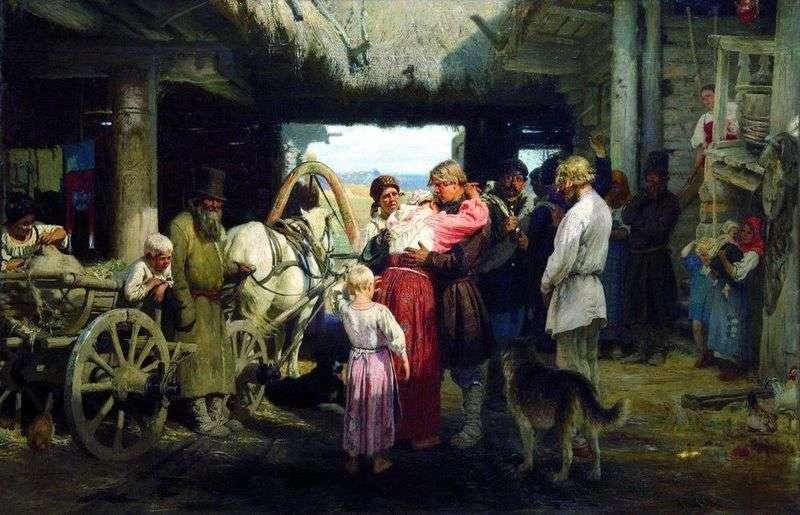 Widząc rekruta   Ilya Repin