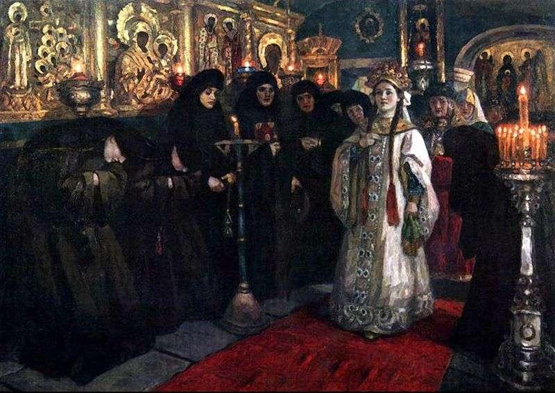 Zwiedzanie klasztoru carewiczów   Wasilij Surikow