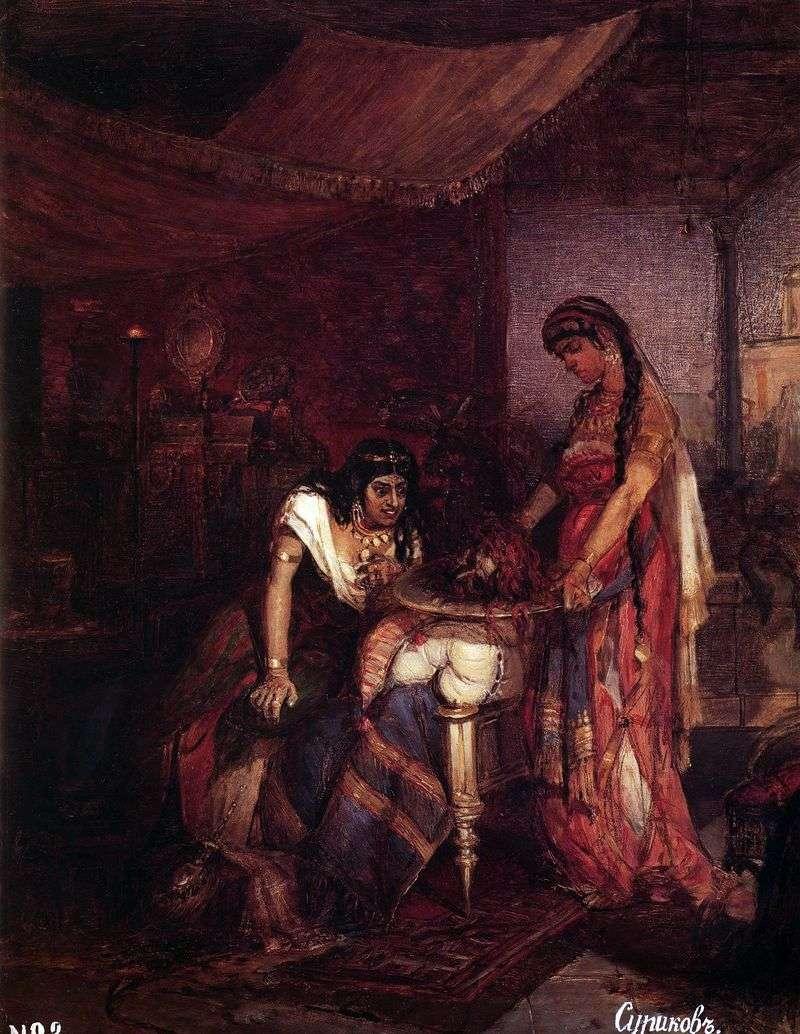 Salome sprowadza głowę Jana Chrzciciela do swojej matki Ihorodiade   Wasilija Surikova