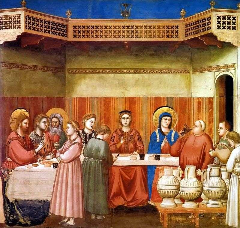 Małżeństwo w Kanie Galilejskiej   Giotto