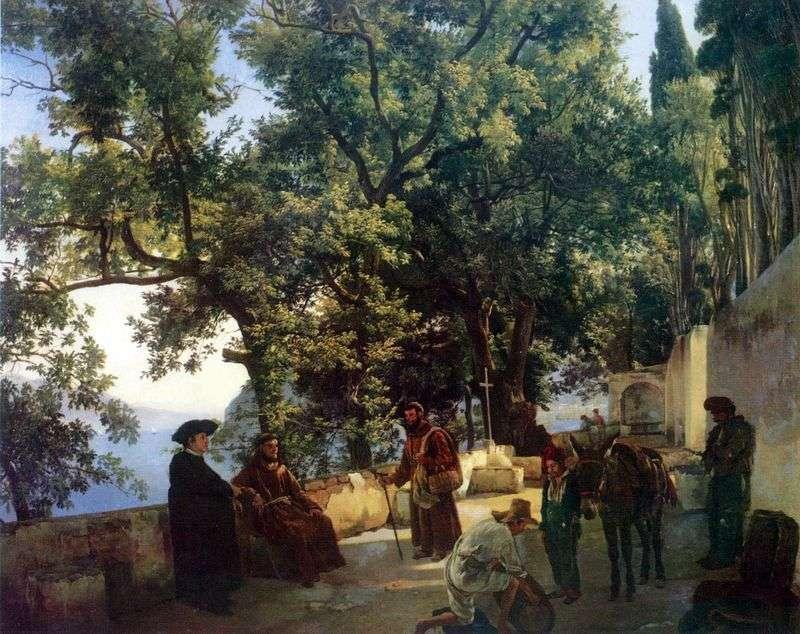 Capuccini w pobliżu Sorrento   Sylvester Shchedrin