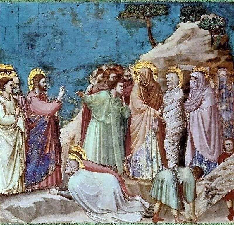 Zmartwychwstanie Łazarza   Giotto