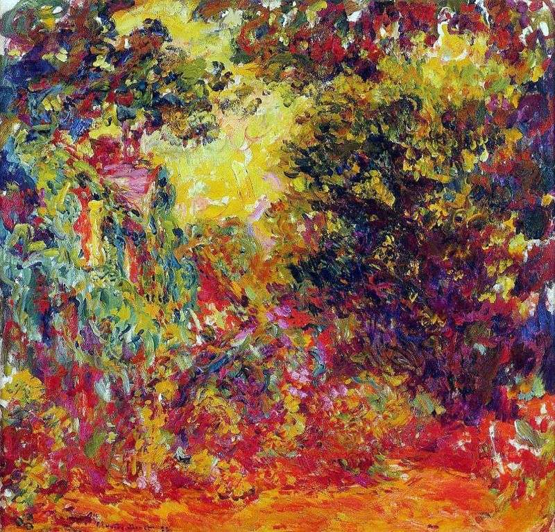 Malarz, widok z ogrodu różanego   Claude Monet