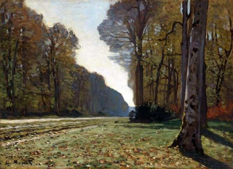 Droga do Bass Bro, Fontainebleau   Claude Monet