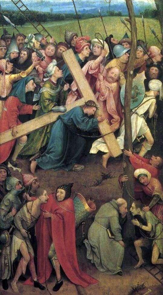 Przenoszenie krzyża na Kalwarii   Hieronim Bosch