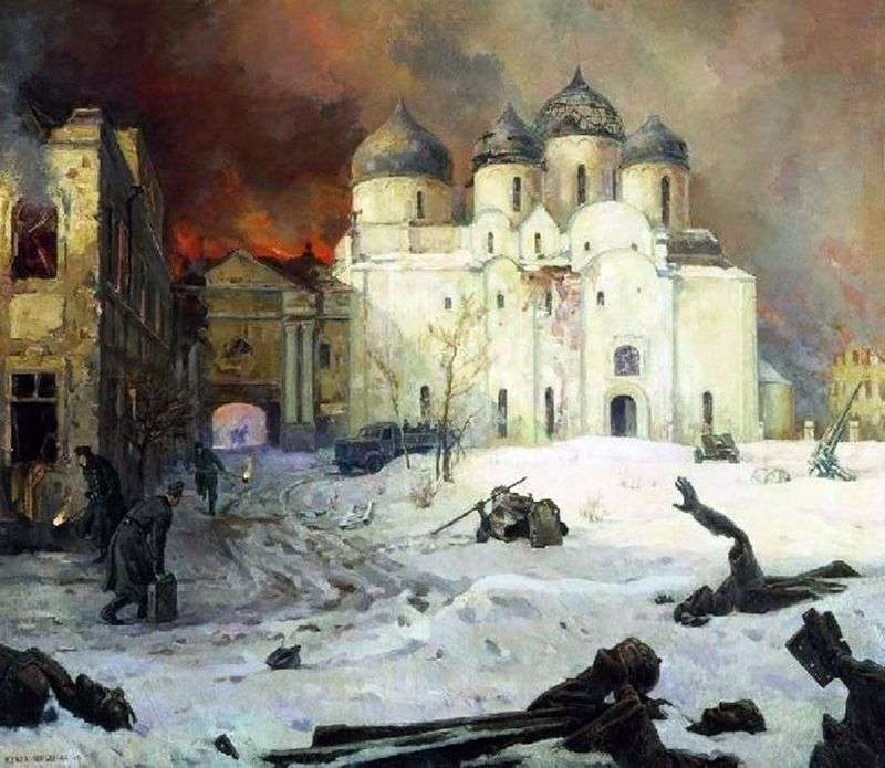 Lot faszystów z Nowogrodu   Kukryniksy