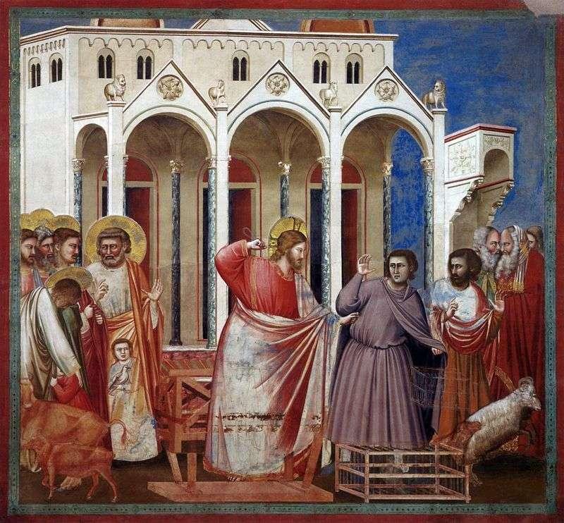 Wypędzenie kupców ze świątyni   Giotto