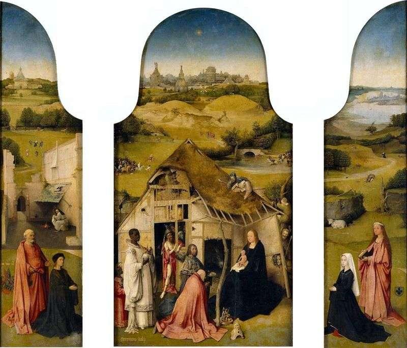 Adoracja Trzech Króli   Hieronima Boscha