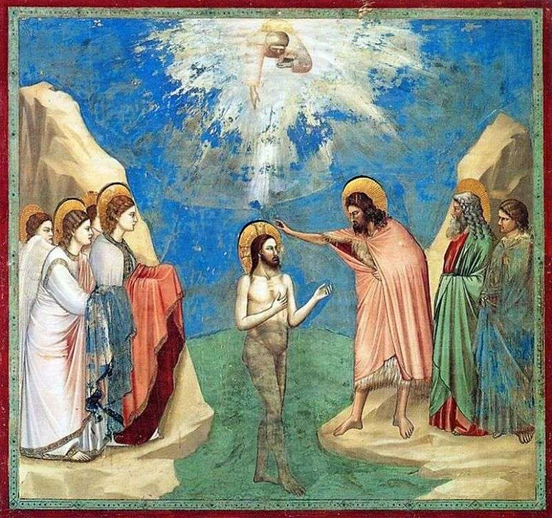 Chrzest Chrystusa   Giotto