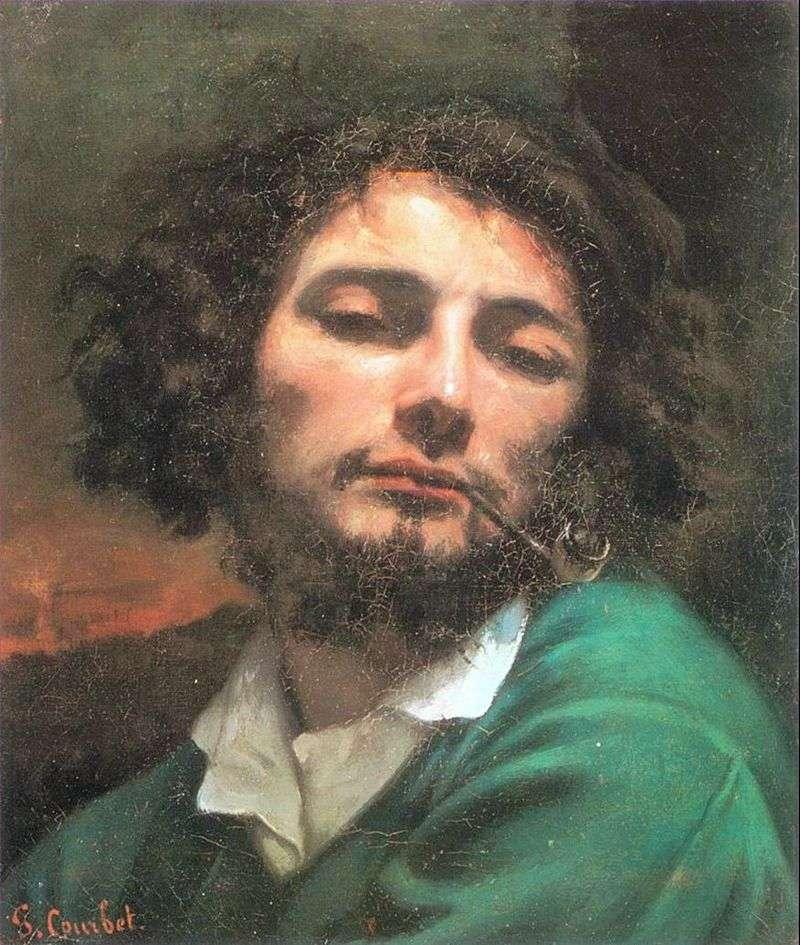 Autoportret z tubą   Gustave Courbet