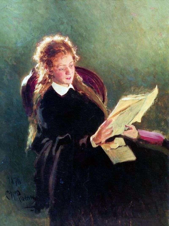 Czytająca dziewczynę   Ilya Repin