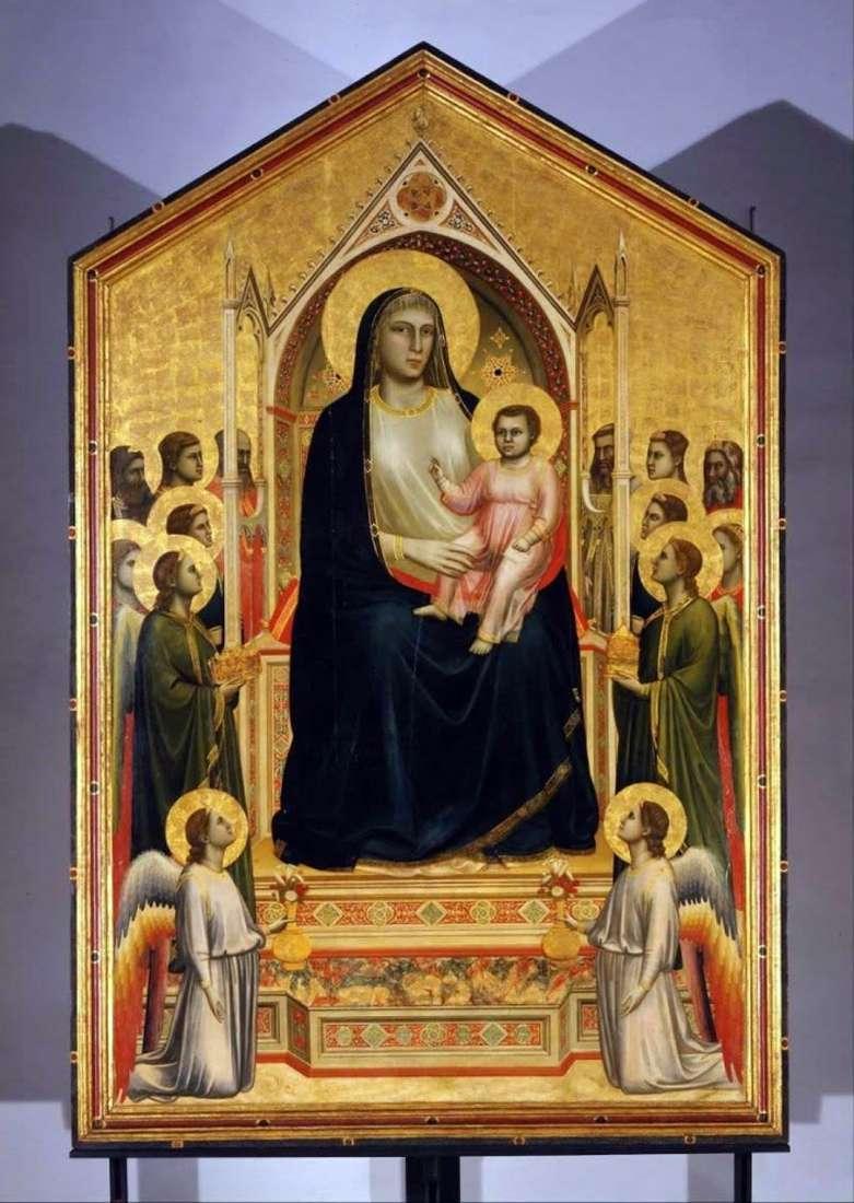 Madonna z Dzieciątkiem z Aniołami (Madonna Onisanti)   Giotto
