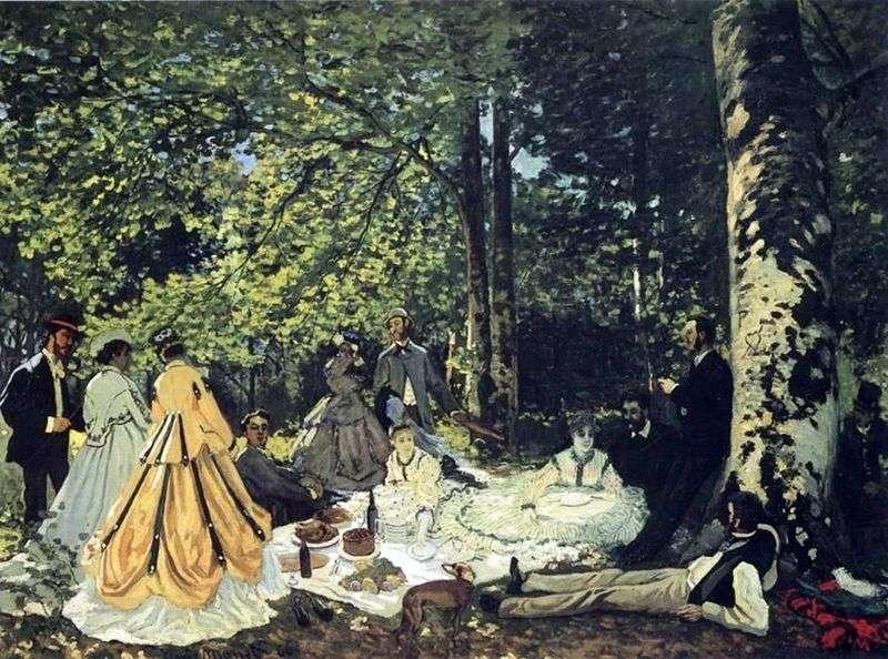 Śniadanie na trawie   Claude Monet