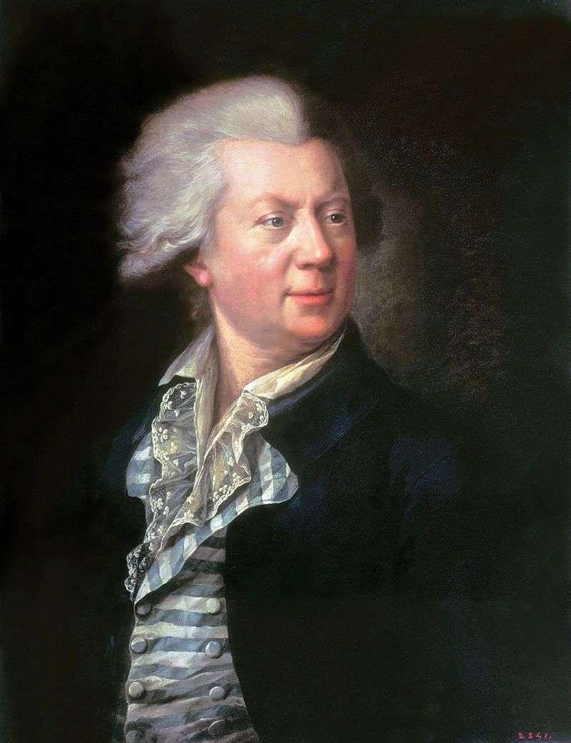 Portret architekta Yu M. Felten   Stepan Schukin