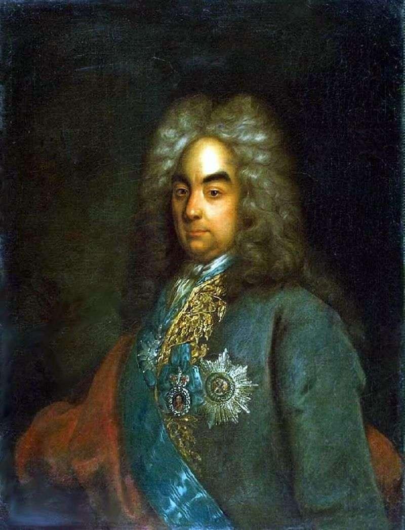 Portret hrabiego Piotra Andriejewicza Tołstoja   Johanna Gottfrieda Tannauera