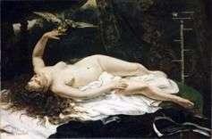 Kobieta z papugą   Gustave Courbet