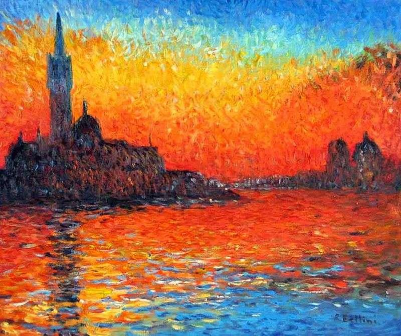 Zachód słońca w Wenecji   Claude Monet