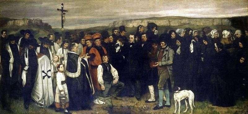Pogrzeb w Ornanie   Gustave Courbet