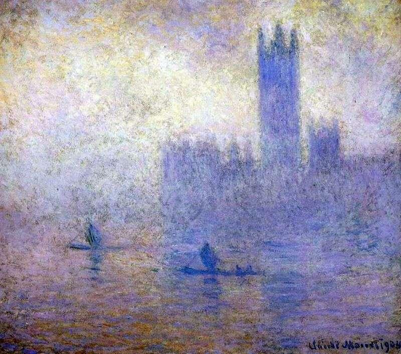 Budynek Parlamentu w Londynie. Efekt mgły   Claude Monet