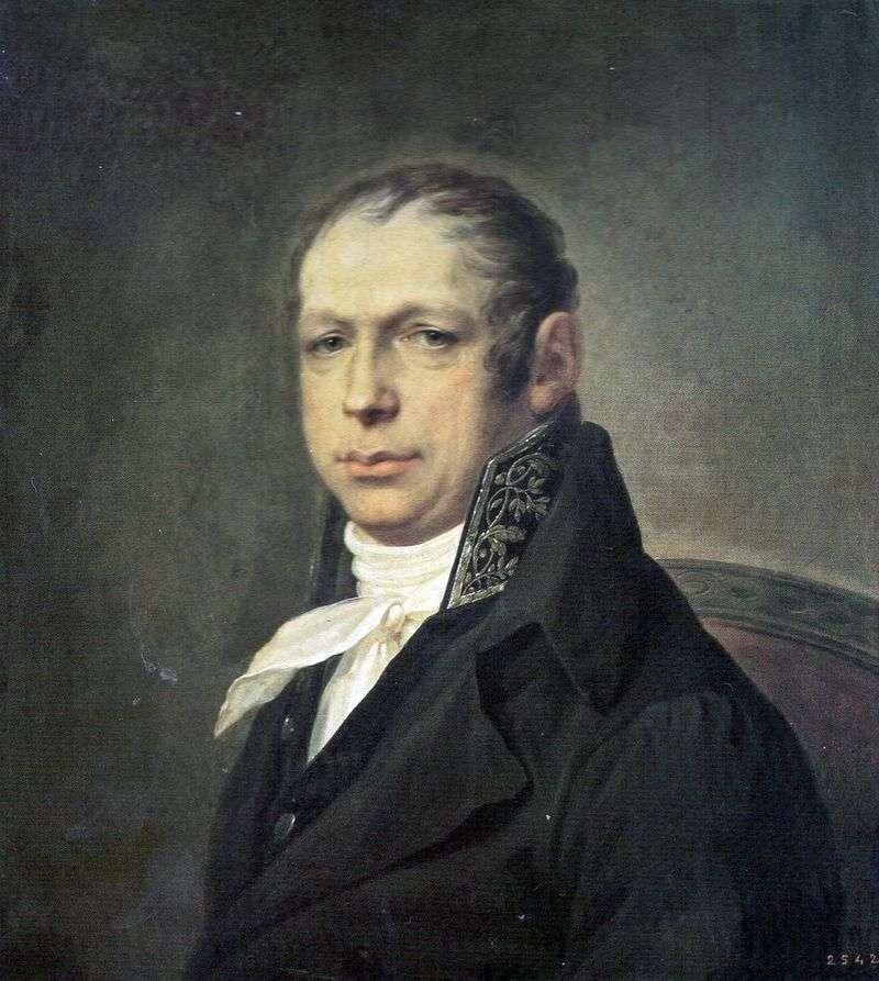 Portret architekta Adrian Dmitrievich Zakharov   Stepan Schukin