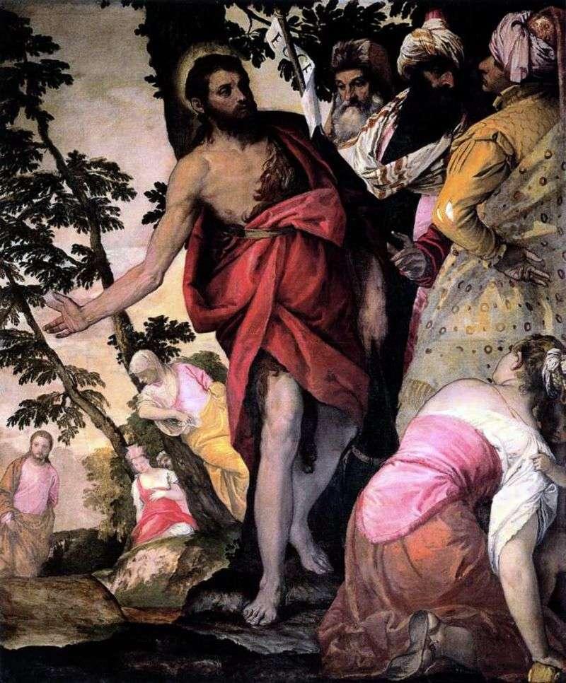 Kazanie Jana Chrzciciela   Paolo Veronese