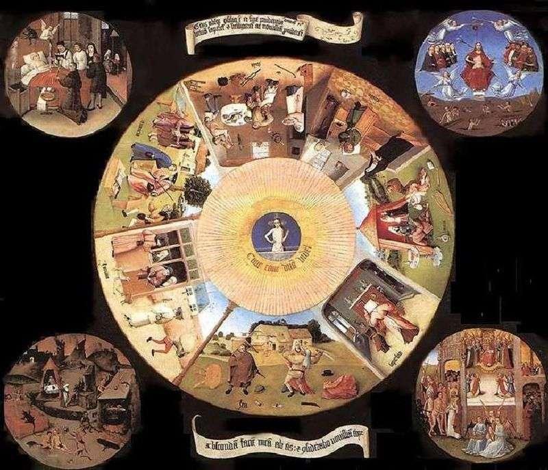 Siedem grzechów głównych i cztery ostatnie rzeczy   Hieronim Bosch