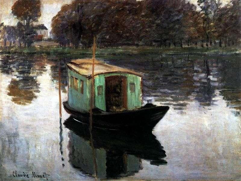 Studio Boat   Claude Monet