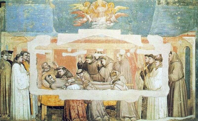 Śmierć świętego Franciszka   Giotto