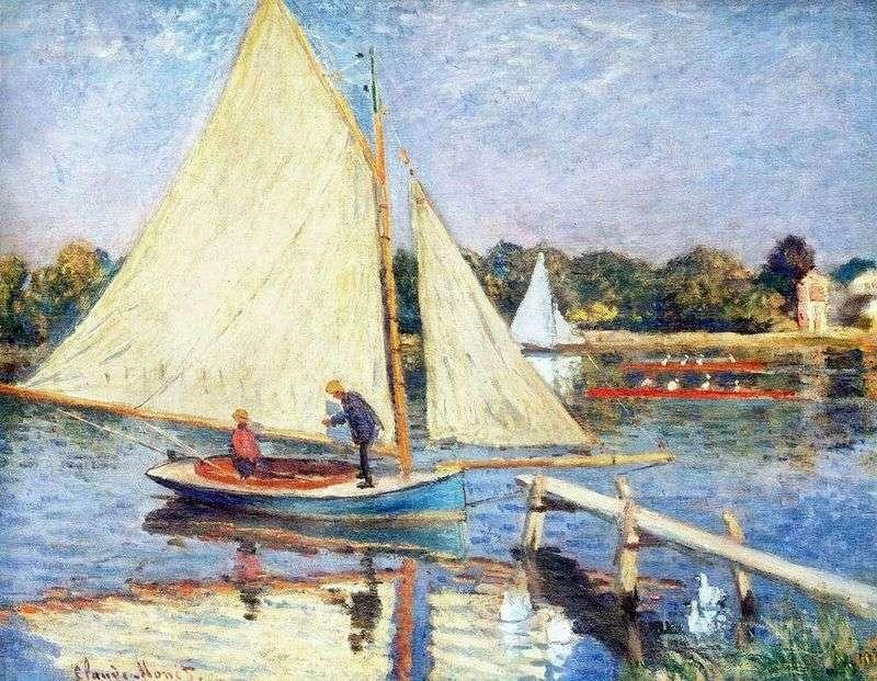 Łodzie w pobliżu Argenteuil   Claude Monet