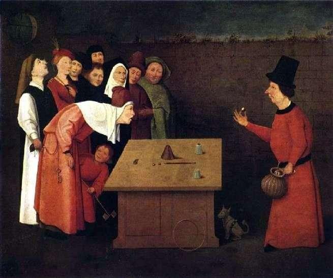 Magician Charlatan   Hieronim Bosch