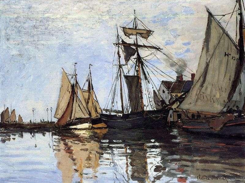 Łodzie w porcie Honfleur   Claude Monet