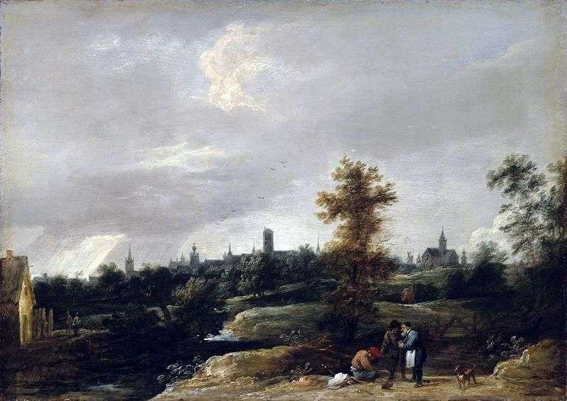 Widok okolicy Brukseli   David Teniers