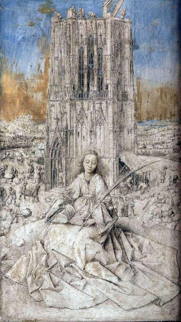 St. Varvara   Jan van Eyck
