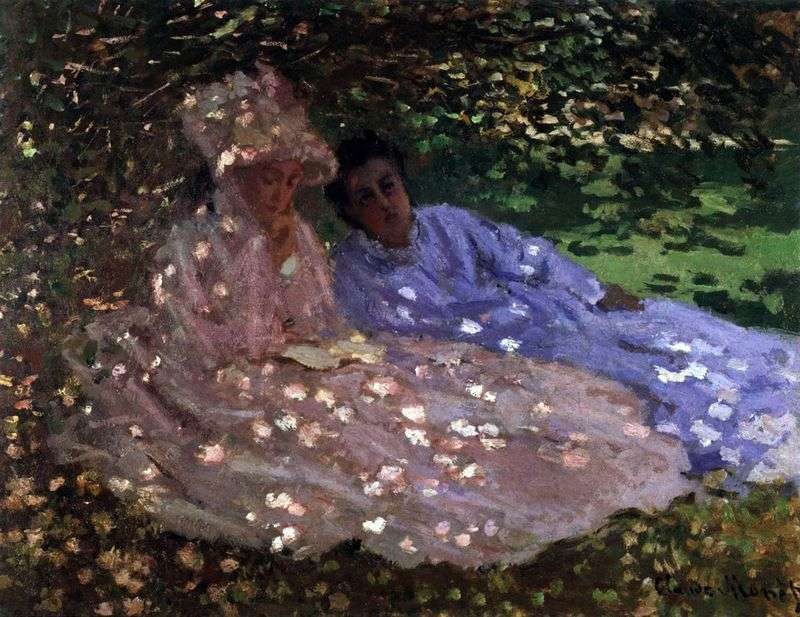 Madame Monet w ogrodzie   Claude Monet