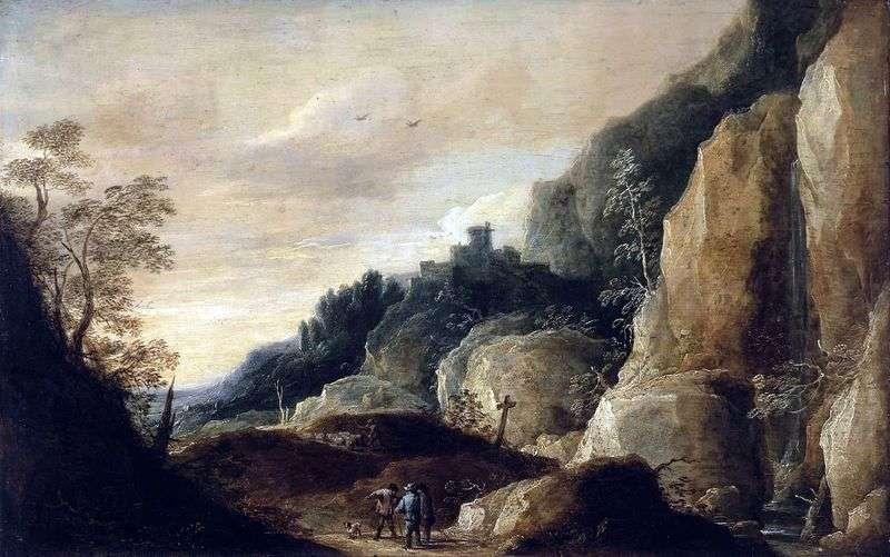 Górski krajobraz   David Teniers