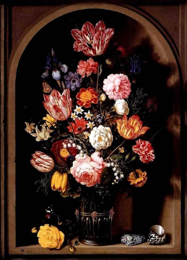 Bukiet kwiatów w wazonie   Ambrosius Boshart