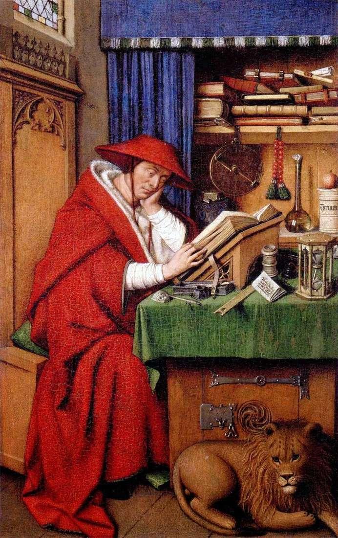 St. Jerome   Jan van Eyck