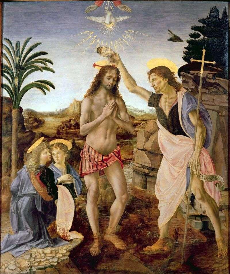 Chrzest Chrystusa   Andrea del Verrocchio
