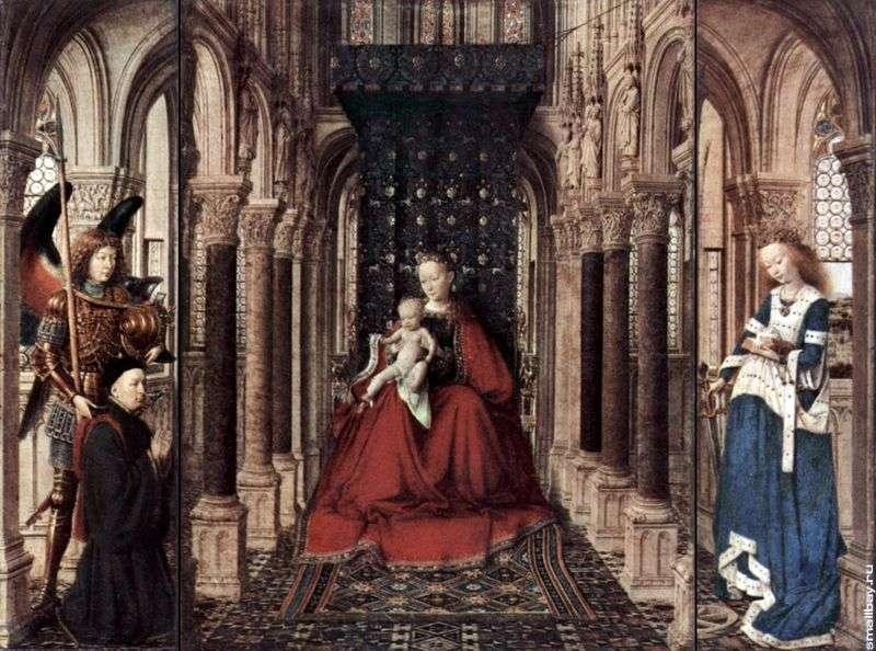 Ołtarz Marii Panny   Jan van Eyck