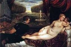 Wenus z organistą i kupidynem   Titian Vecellio