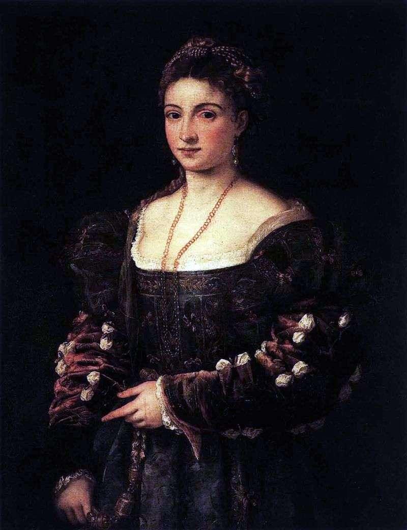 La Bella (Belle)   Titian Vecellio