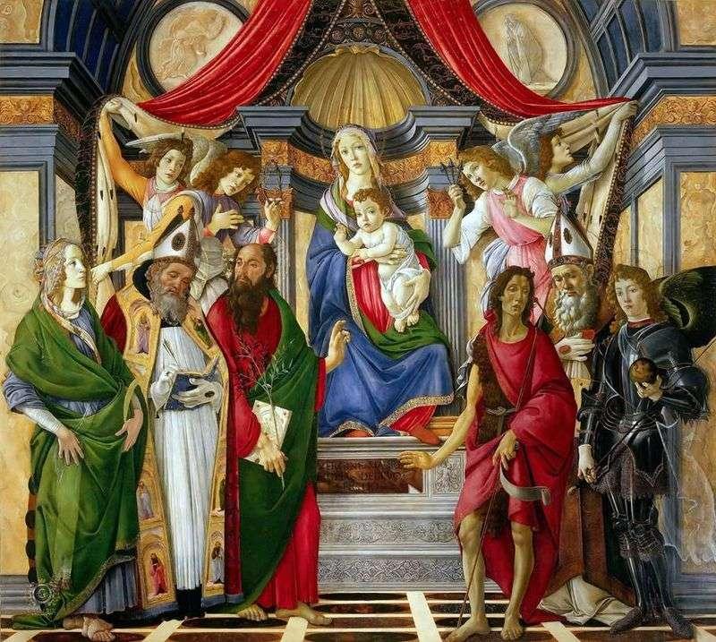 Ołtarz św. Barnabas   Sandro Botticelli