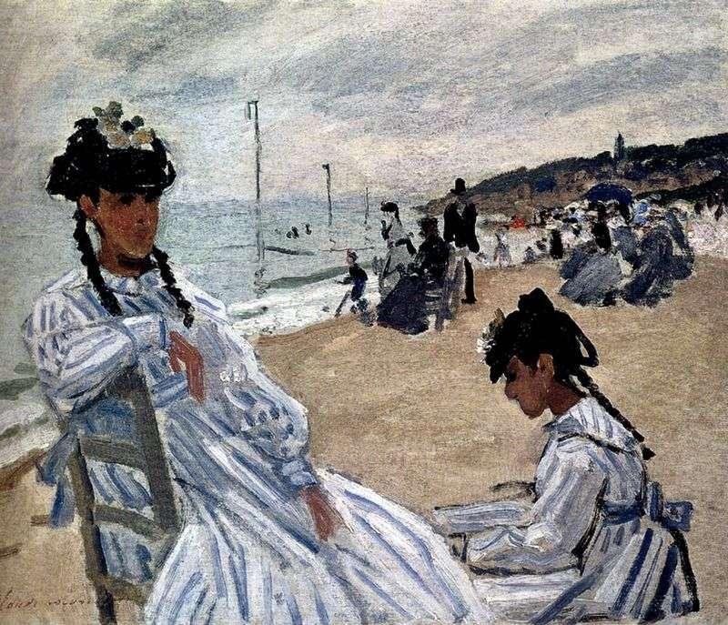 Na plaży w Trouville   Claude Monet