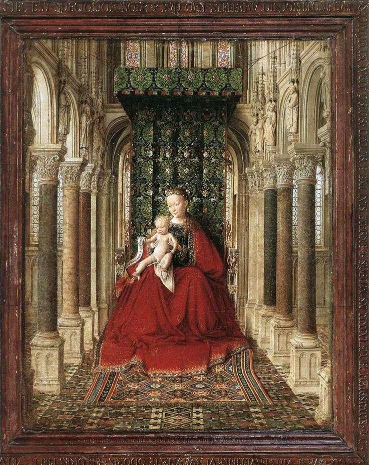 Dziewica i Dziecko na tronie w świątyni   Jan van Eyck