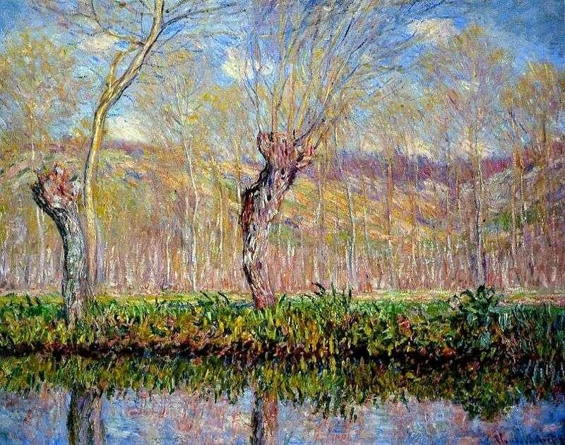 Płycizna nad rzeką na wiosnę   Claude Monet
