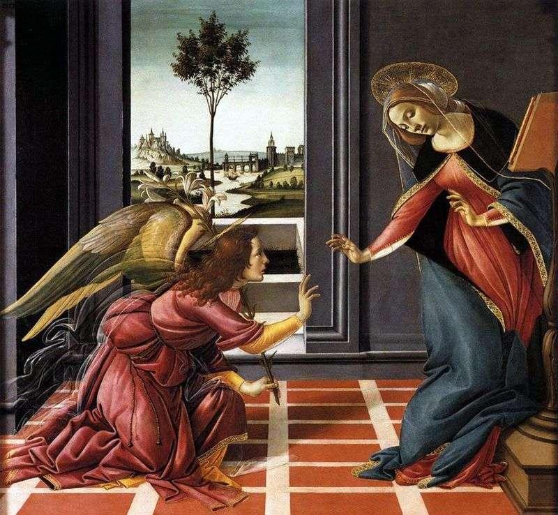 Zwiastowanie Chestello   Sandro Botticelli