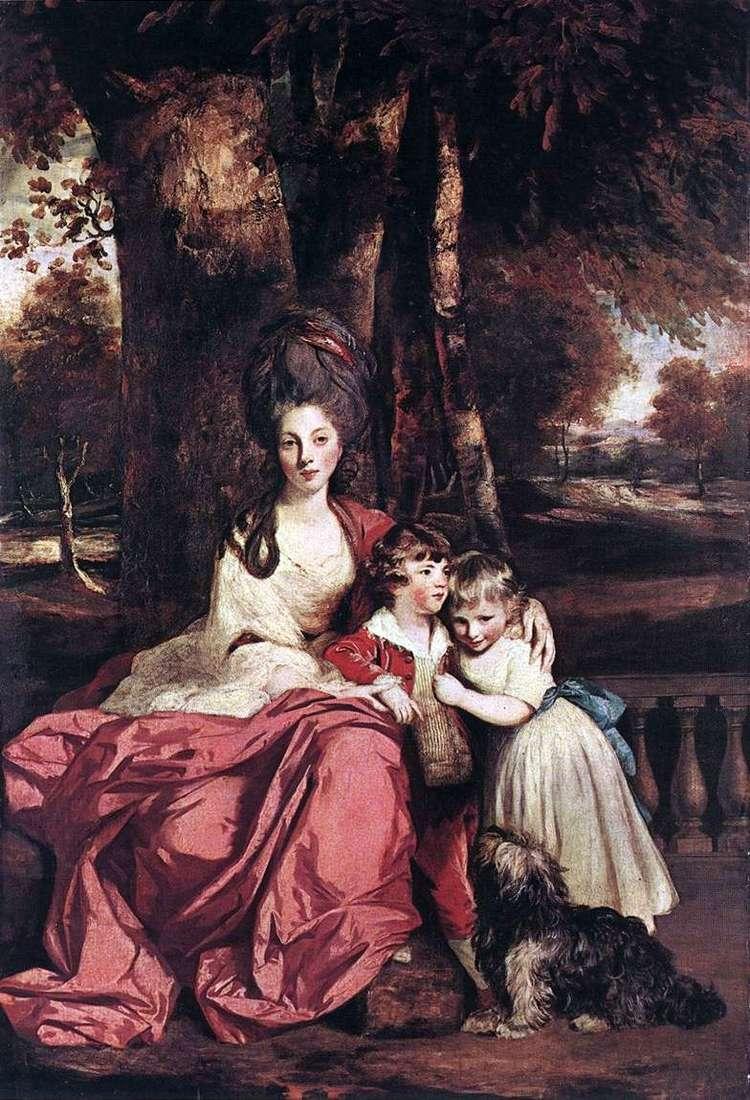 Lady Elizabeth Delme i jej dzieci   Reynolds Joshua